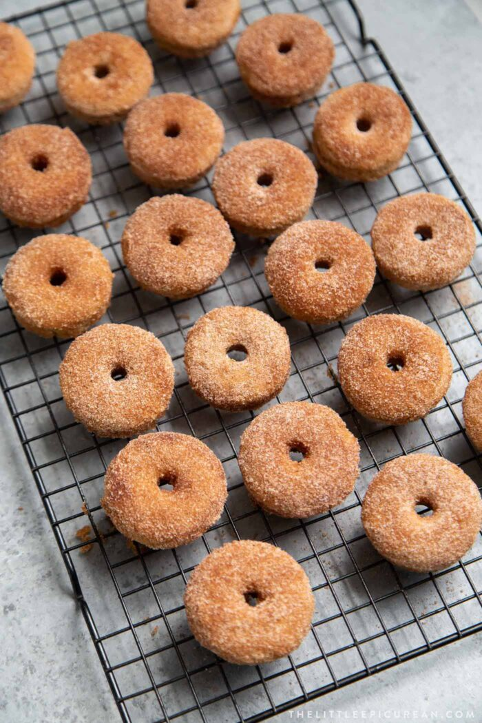 Baked Mini Cinnamon Sugar Donuts
